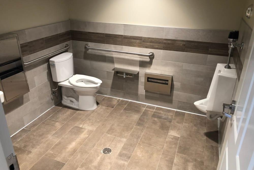 Customer restroom at Cypress Self Storage in Oakley, California