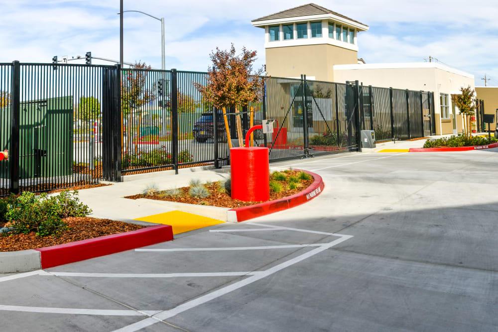 Exit keypad at Cypress Self Storage in Oakley, California