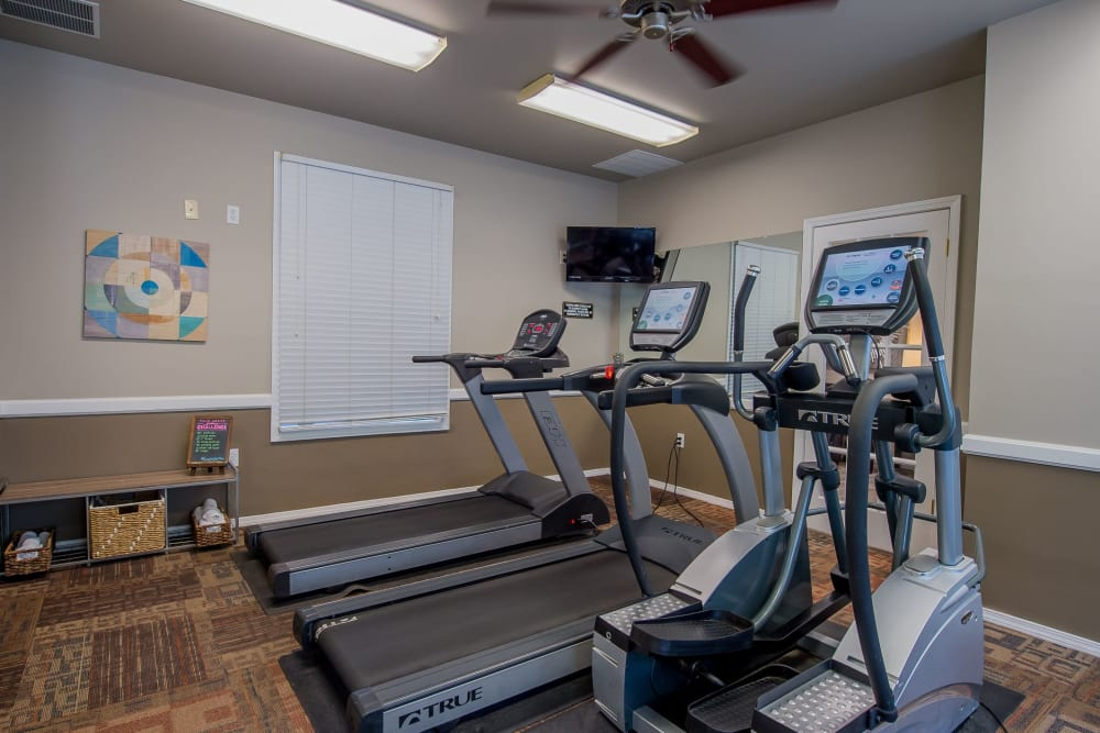 Fitness center for residents at Crown Chase Apartments in Wichita, Kansas