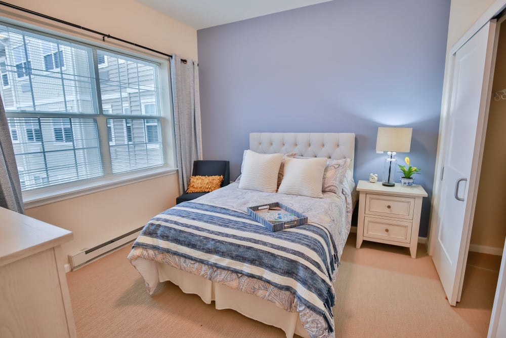 Resident bedroom at The Summit at Glen Mills in Glen Mills, Pennsylvania.