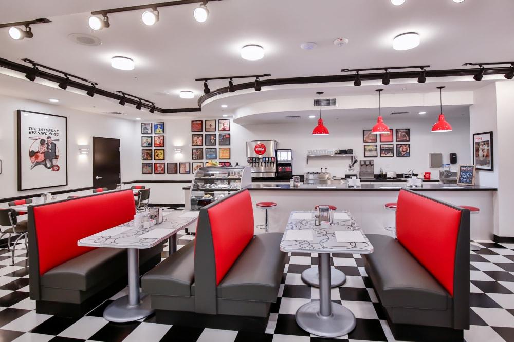 Dining room at Merrill Gardens at Glen Mills in Glen Mills, Pennsylvania.