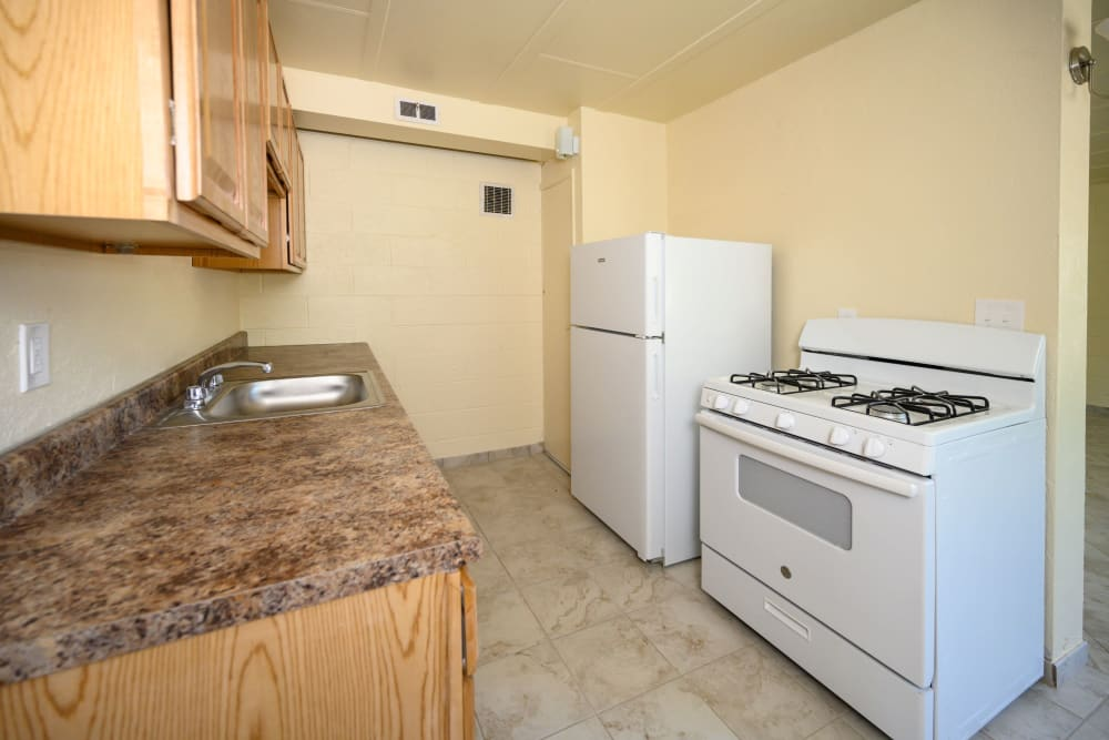 Spacious kitchen at Riverview Gardens in Passaic, New Jersey