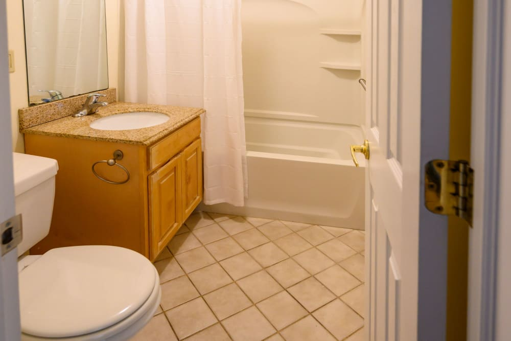 Bathroom at Rutgers Court Apartments in Belleville, New Jersey