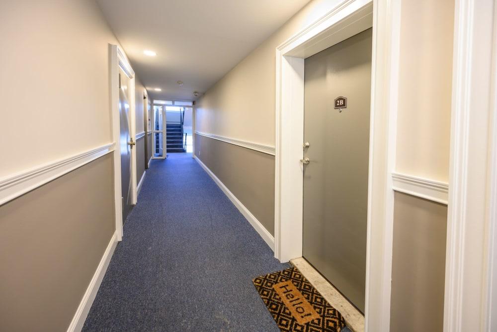 Hallway at State Gardens in Hackensack, New Jersey