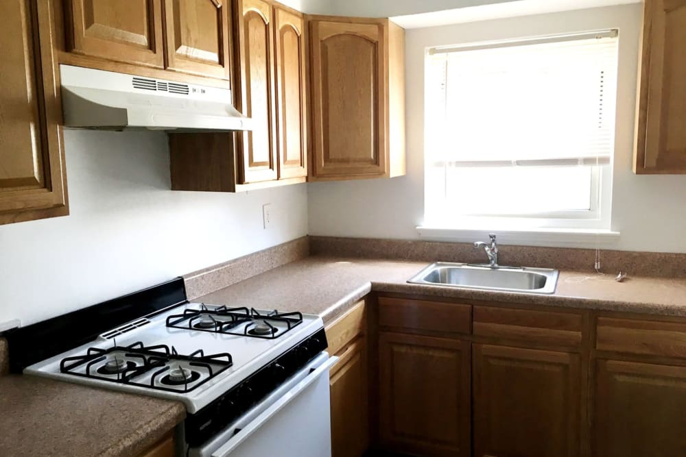 Kitchen at Suburban Terrace in Hackensack, New Jersey