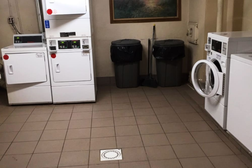 Laundry room at Vine Gardens in Elizabeth, New Jersey