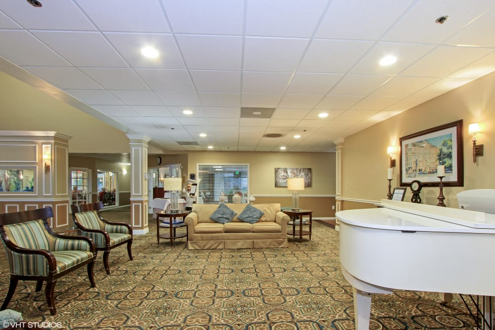 The lobby at Barkley Place in Fort Myers, Florida
