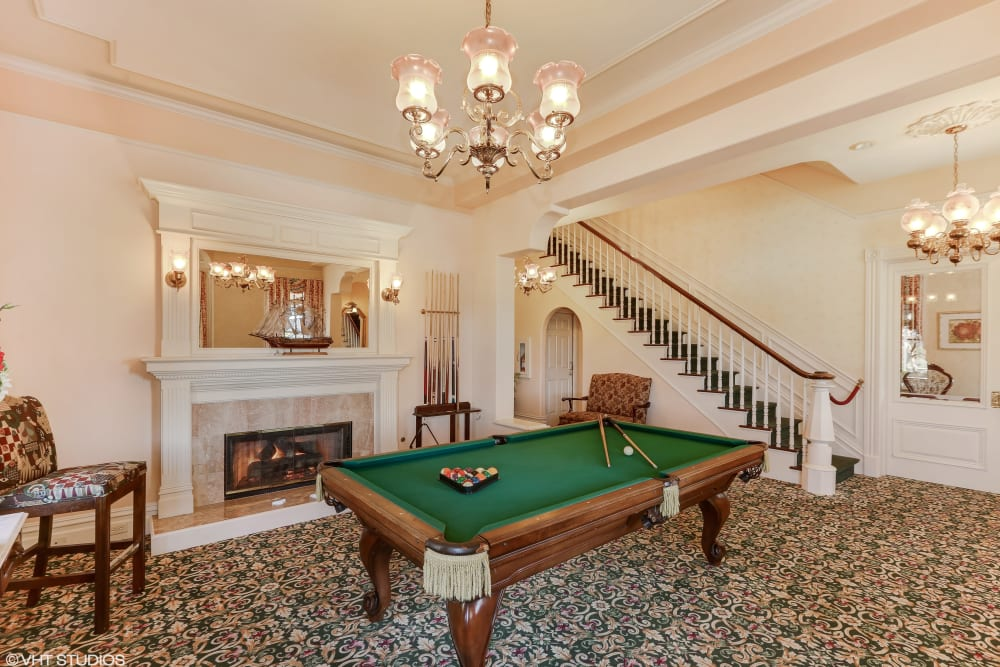Game room at Sunshine Villa in Santa Cruz, California.