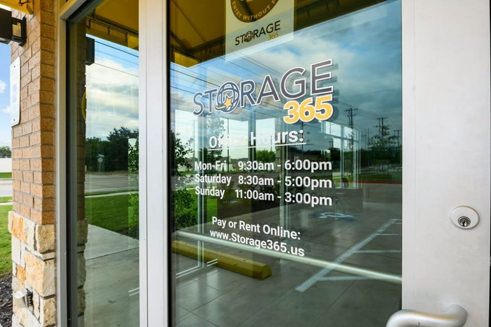 Entrance to Storage 365 in Garland, Texas