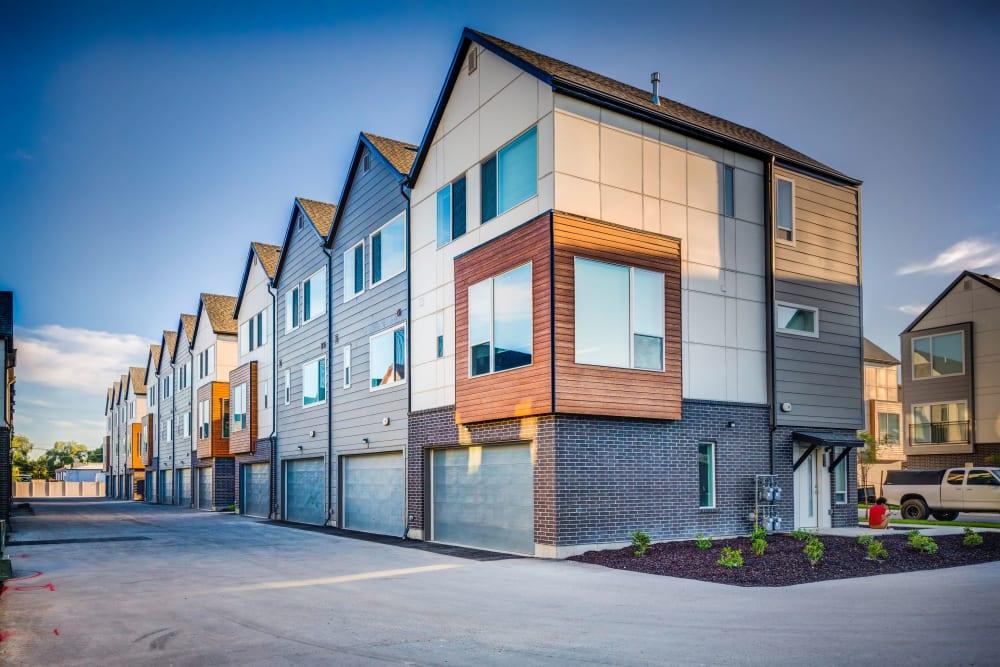 Modern exterior at Hawthorne Townhomes in South Salt Lake, Utah