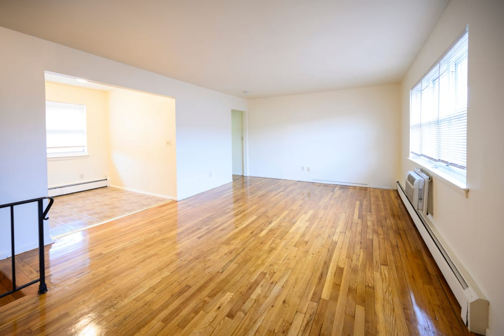 Bright living room at 84-90 Essex Street in Hackensack, New Jersey