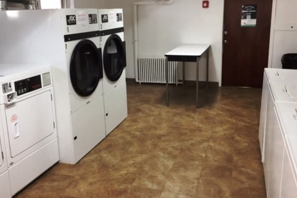 Laundry room at Lafayette Park Apartments in Hawthorne, New Jersey