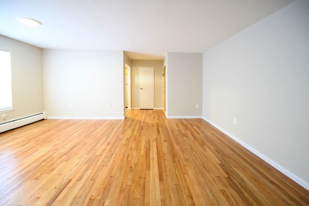 Hardwood floors at Lafayette Park Apartments in Hawthorne, New Jersey