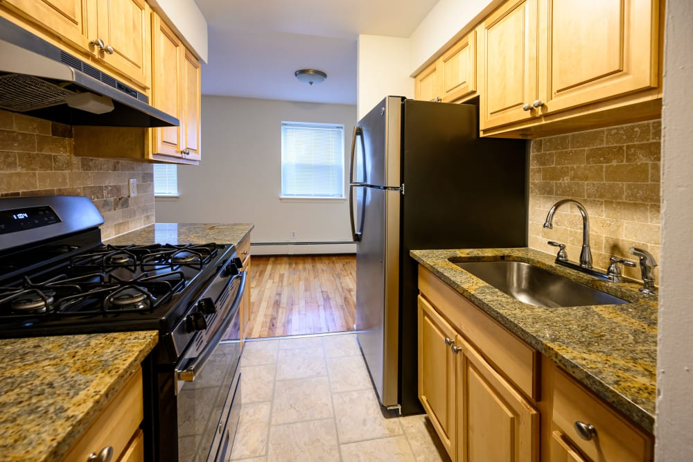 Cozy kitchen at Kennedy Apartments in Hackensack, New Jersey