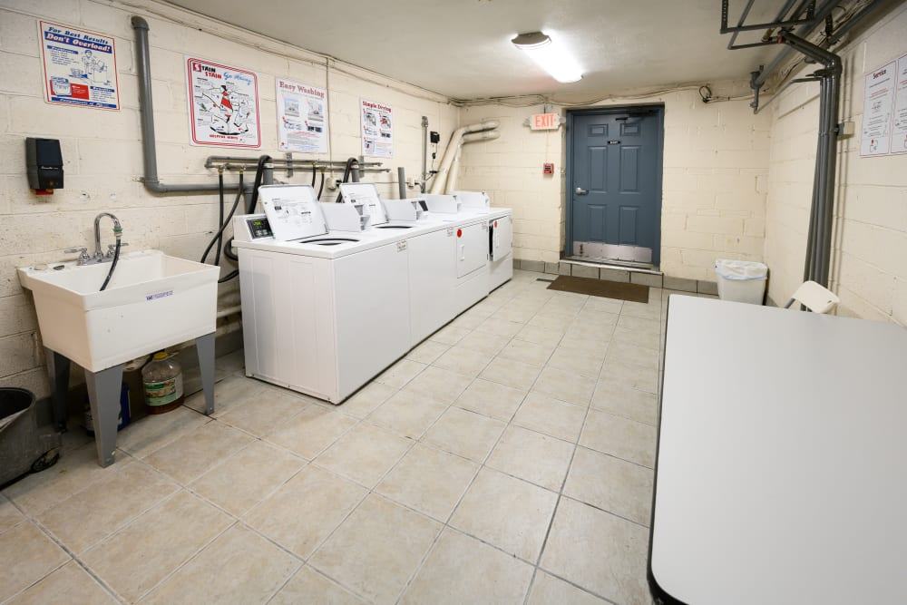 Laundry room at Kennedy Apartments in Hackensack, New Jersey