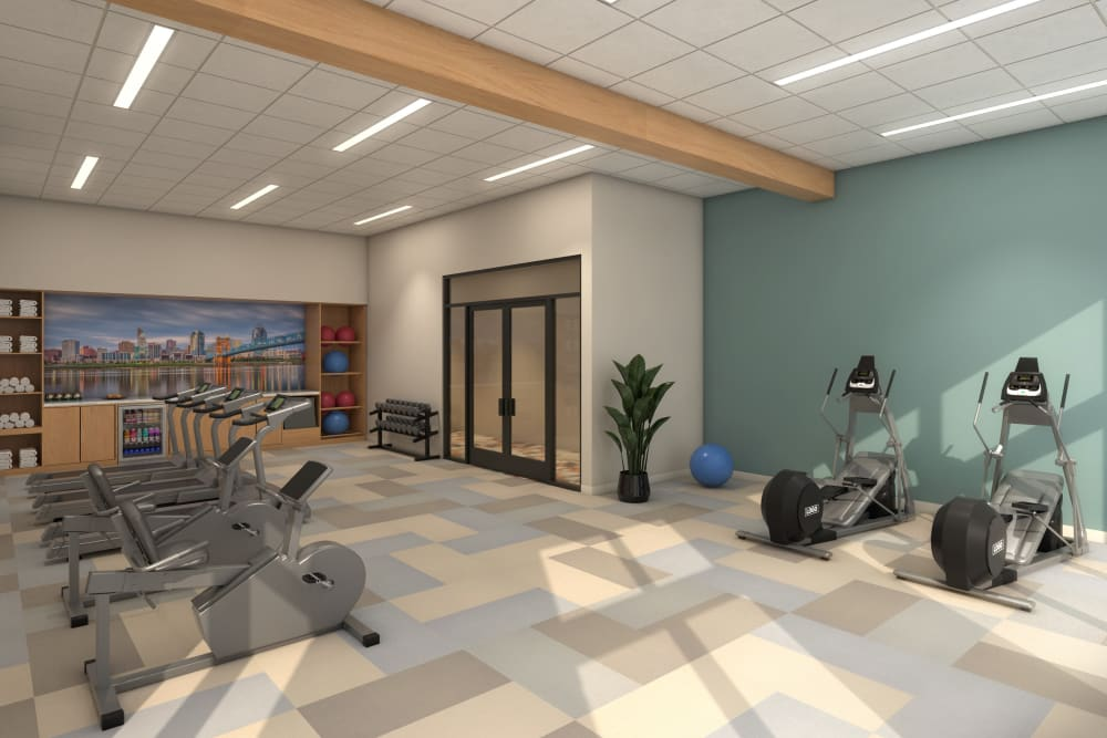 Fitness center at Anthology of Blue Ash in Blue Ash, Ohio