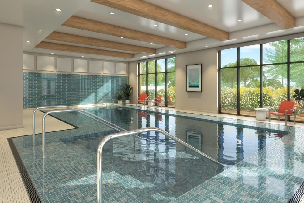 Indoor swimming pool at Anthology of Blue Ash in Blue Ash, Ohio