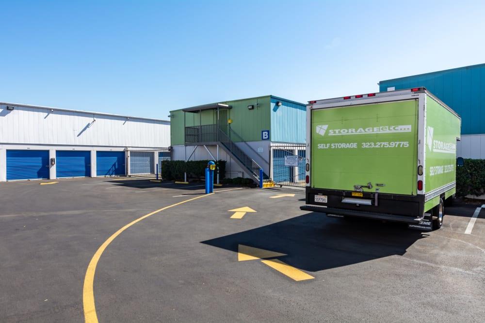 Moving trucks at Storage Etc... Los Feliz