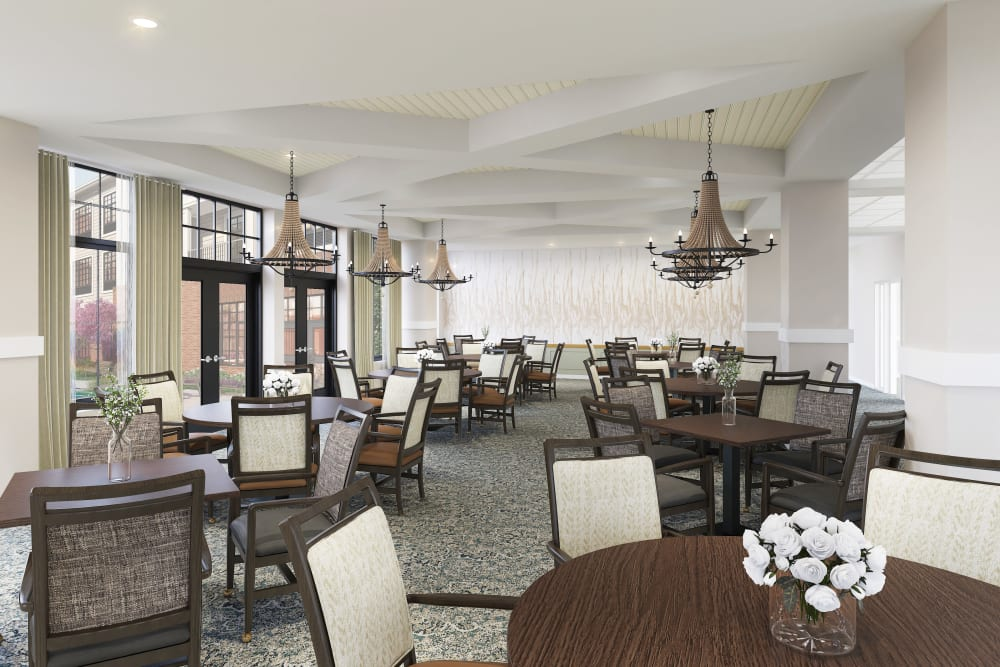 Anthology of Tuckahoe resident dining area in Henrico, Virginia