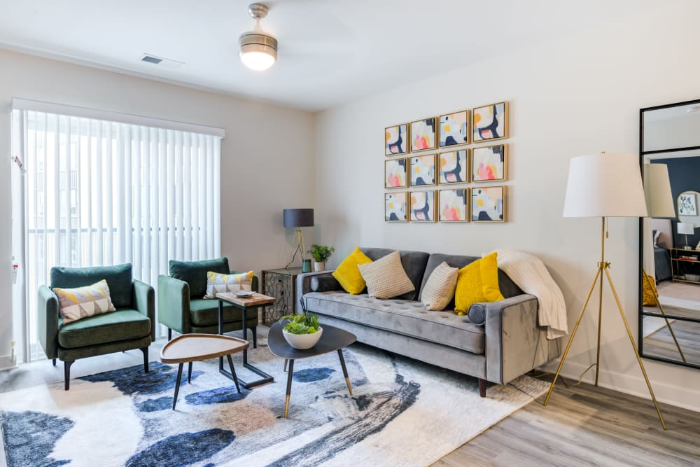 Living room at Main Street Apartments in Rockville, Maryland