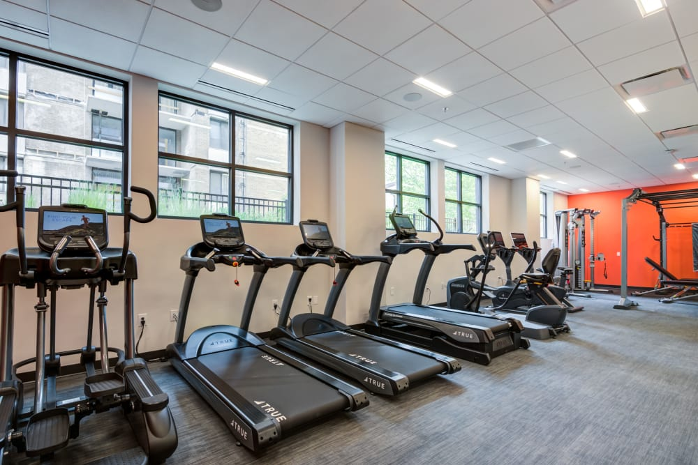 Treadmills at Main Street Apartments in Rockville, Maryland