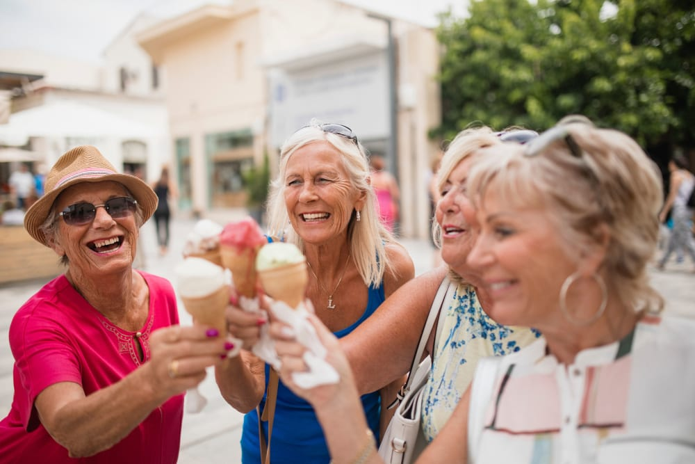 Residents gather for an ice cream social at Arlington Place of Pocahontas in Pocahontas, Iowa