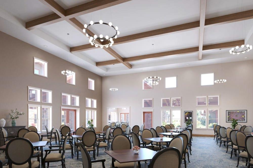 Dining room at Ativo Senior Living of Prescott Valley in Prescott Valley, Arizona