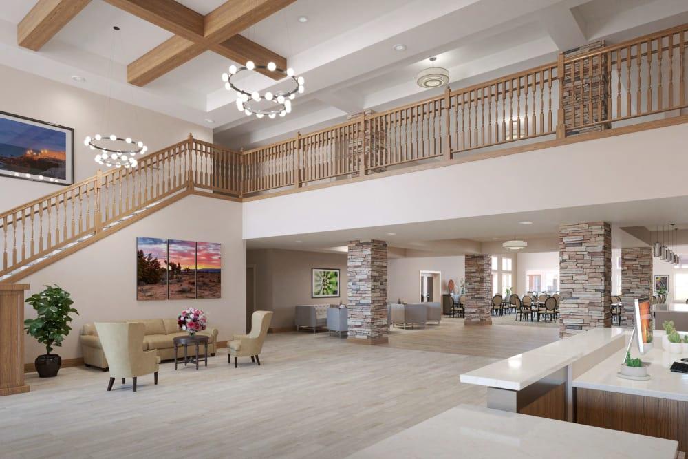 The interior of Ativo Senior Living of Prescott Valley in Prescott Valley, Arizona