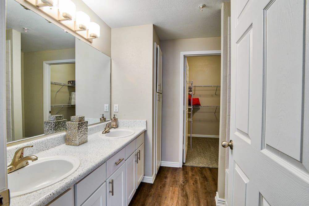 Bathroom at Bella Springs Apartments in Colorado Springs, Colorado