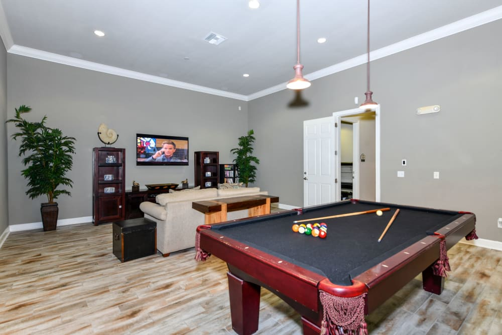 Game room at Courtney Isles in Yulee, Florida