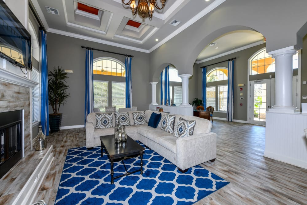 Well decorated clubhouse at Courtney Isles in Yulee, Florida