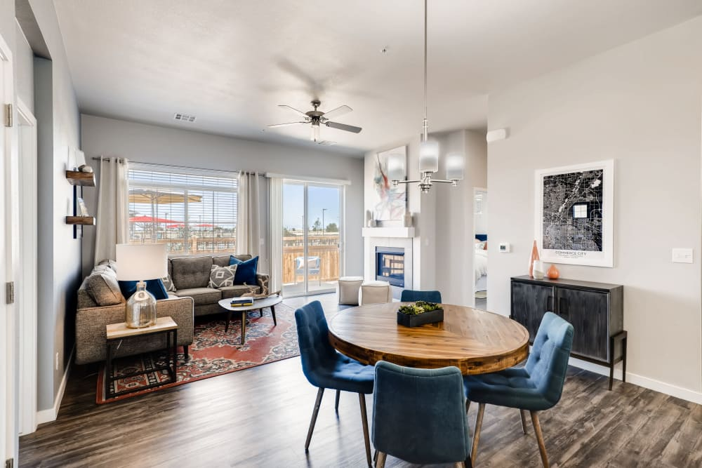 A large open-concept layout at Avilla Eastlake in Thornton, Colorado
