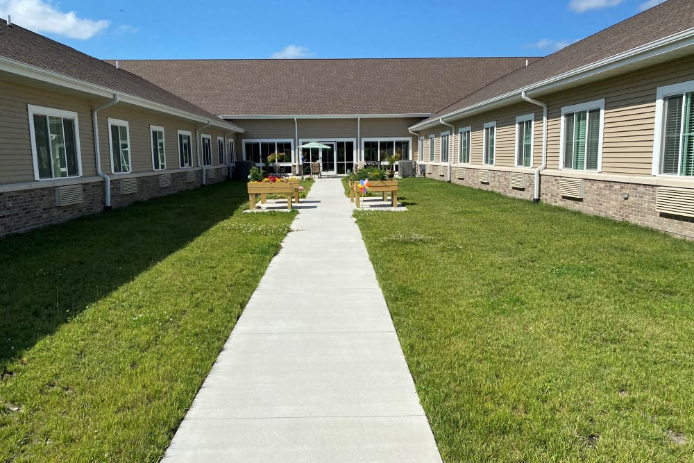 Courtyard access at Country Meadow Place in Mason City, Iowa
