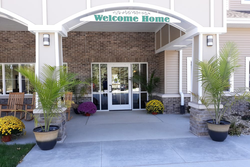 Front entrance at Country Meadow Place in Mason City, Iowa