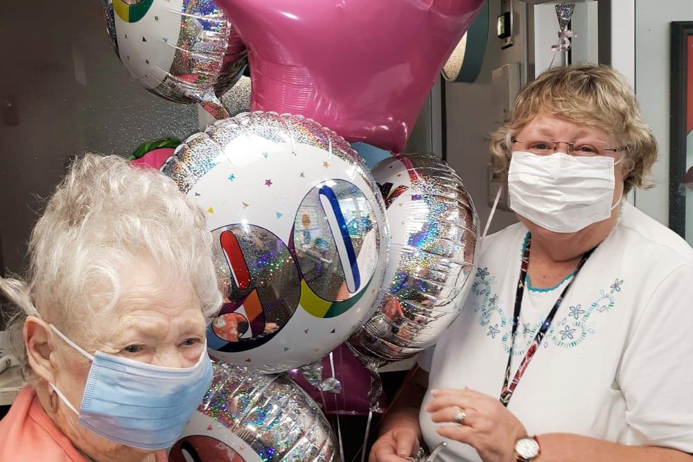 A 90th birthday celebration at Corridor Crossing Place in Cedar Rapids, Iowa