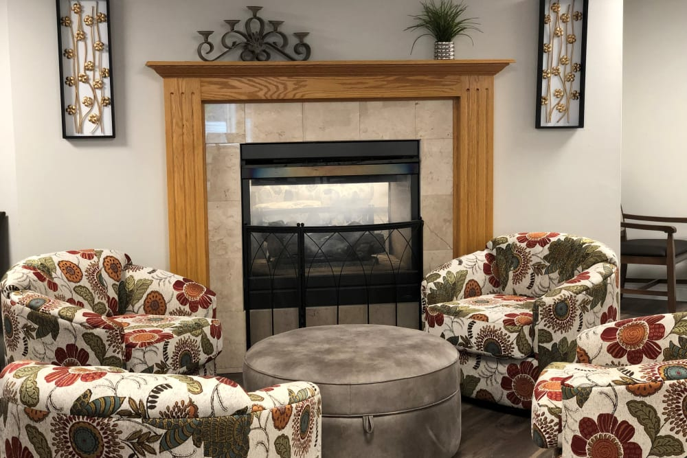 Community living area for residents at Corridor Crossing Place in Cedar Rapids, Iowa