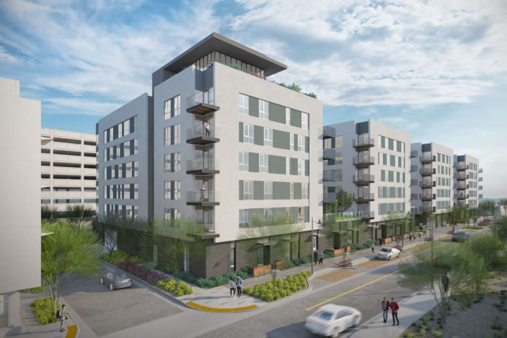 Exterior rendering of Hudson on Farmer in Tempe, Arizona
