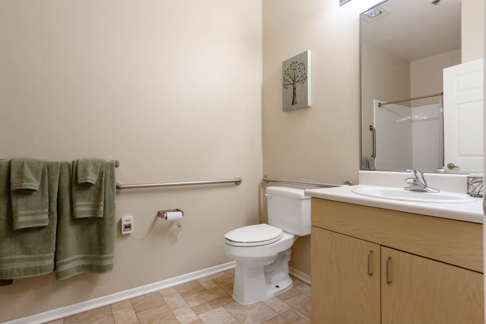 Bathroom at Claremont Place in Claremont, California