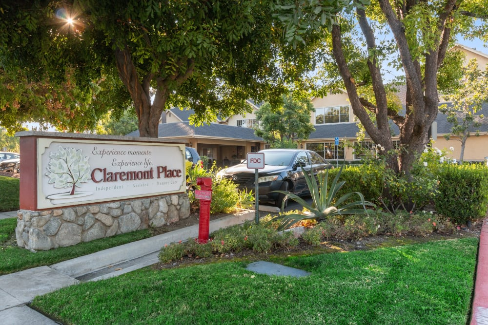 Community sign at Claremont Place in Claremont, California