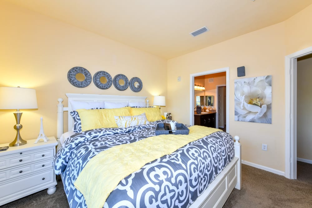 Bright bedroom at Courtney Isles in Yulee, Florida