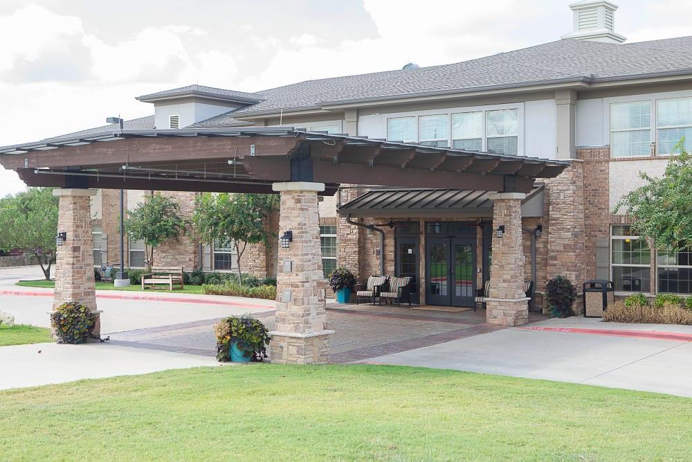 The main building at Legacy at Bear Creek in Keller, Texas