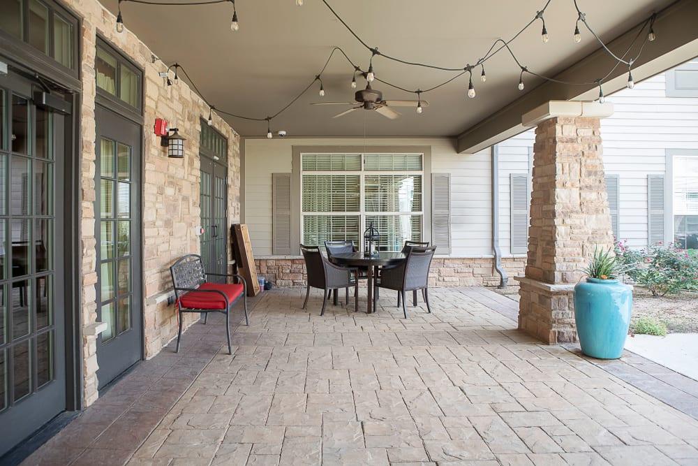 Covered patio at Legacy at Bear Creek in Keller, Texas