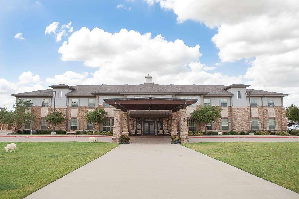 Main entrance to Legacy at Bear Creek in Keller, Texas.