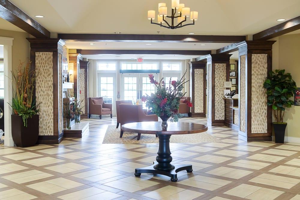 Main lobby at Legacy at Bear Creek in Keller, Texas.