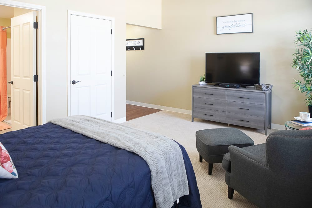Large resident bedroom at Legacy at Bear Creek in Keller, Texas