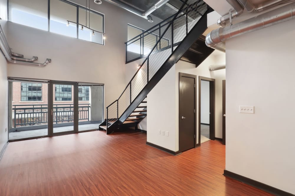 Very open concept with tons of natural light at 17th Street Lofts in Atlanta, Georgia