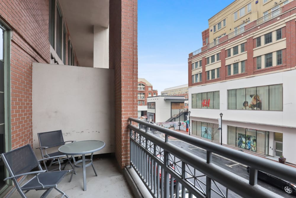 Nice private balcony with beautiful view at 17th Street Lofts in Atlanta, Georgia