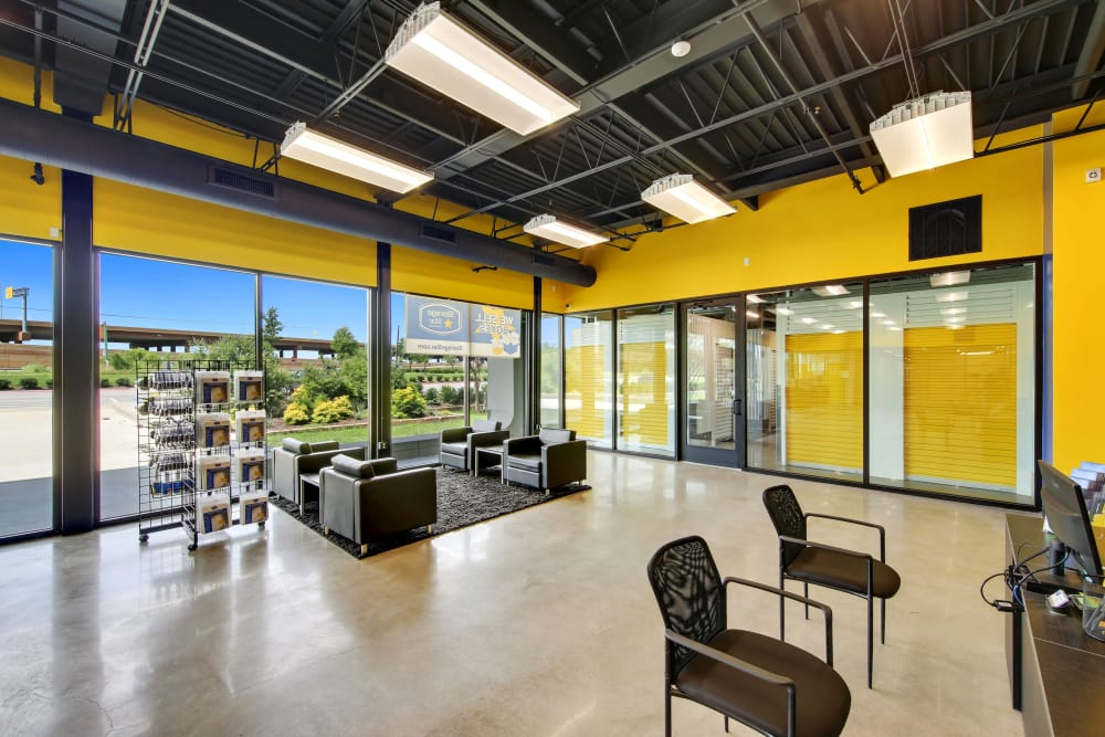 Seating in the leasing office at Storage Star in Napa, California
