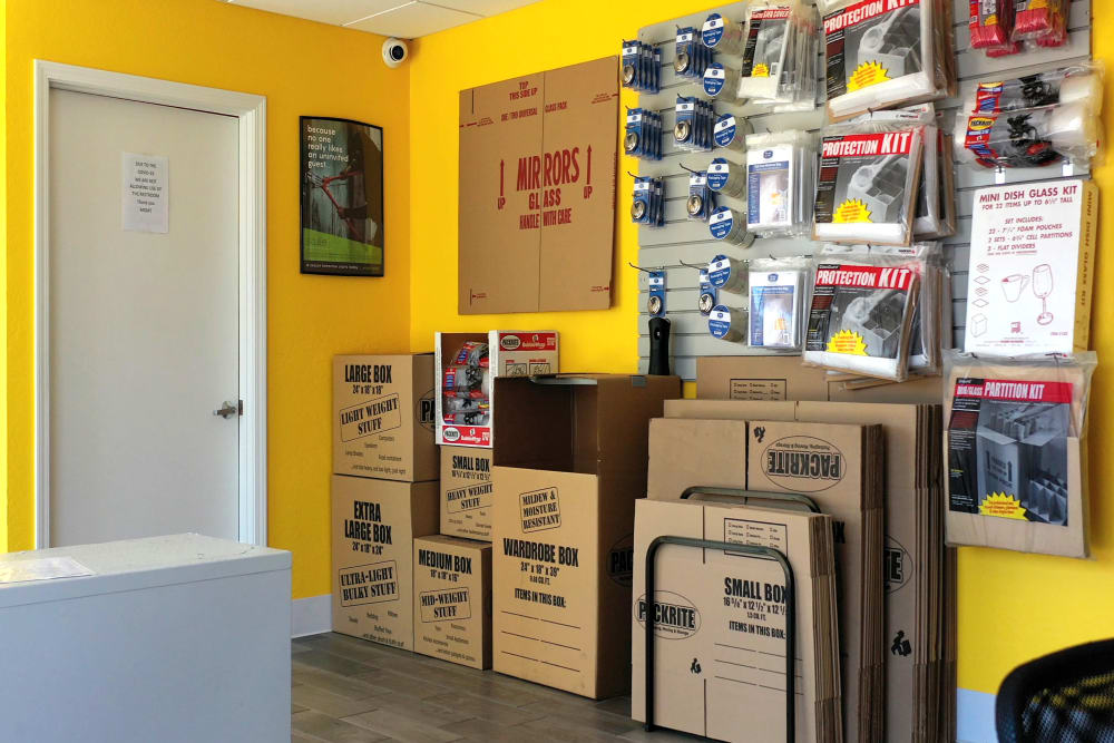 Packing supplies available for purchase at Storage Star in Napa, California