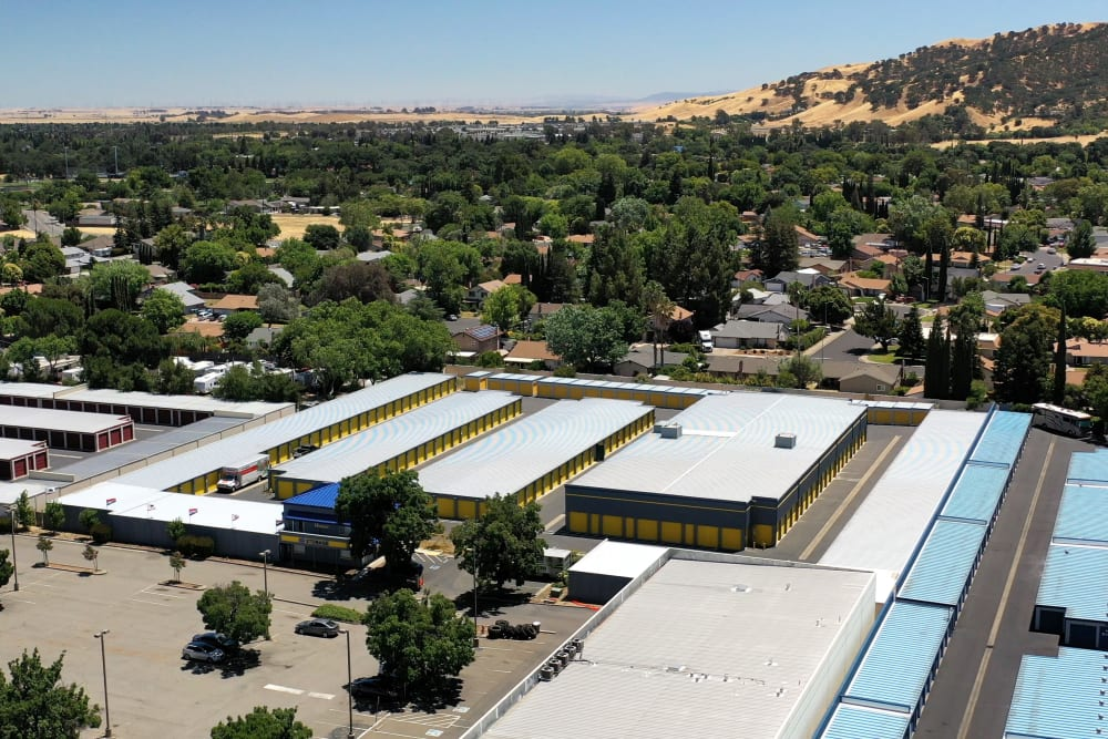 Aerial view of the Vacaville location of Storage Star in Napa, California